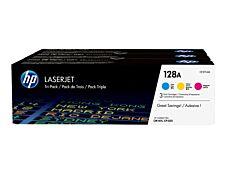 HP 128A - Pack de 3 - cyan, magenta, jaune - cartouche laser d'origine