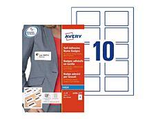 Avery - 150 badges adhésifs - pour étiquettes jet d'encre - 80 x 50 mm