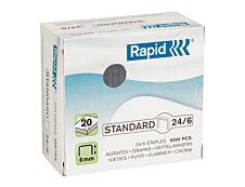 Rapid - Boîte de 5000 Agrafes 24/6 - jusqu'à 20 feuilles - acier galvanisé