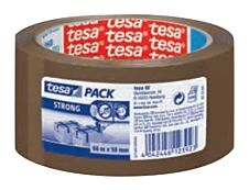 Tesapack Strong - Ruban adhésif d'emballage - 50 mm x 66 m - havane