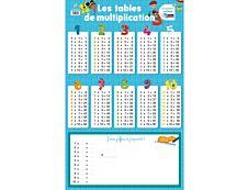 Poster Ardoise les tables de multiplication
