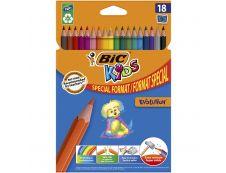 BIC KiDS EVOLUTION - 18 Crayons de couleur