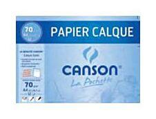 Canson - pochette papier à dessin  calque - 12 feuilles - A4 - 70G - blanc