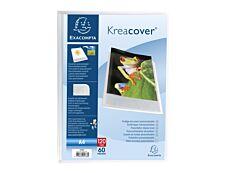 Exacompta KreaCover - Porte vues personnalisable - 120 vues - A4 - cristal