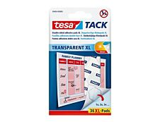 Tesa Tack - 36 pastilles adhésives XL - double face