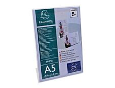 Exacompta - Présentoir porte-visuel incliné - A5 horizontal/vertical