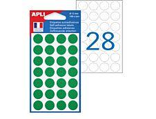 Apli Agipa - 168 Pastilles adhésives - vert - diamètre 15 mm - réf 111841