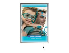Promocome LED Clipframe - Cadre d'affichage clippant à LED - coins carrés - A1