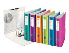 Leitz WOW - Classeur à levier Active 180° - Dos 82 mm - A4 - pour 500 feuilles - disponible dans différentes couleurs