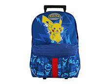 Pokemon - Sac à dos à roulettes bleu Bagtrotter