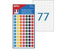 Apli Agipa - 385 Pastilles adhésives - couleur assorties - diamètre 8 mm - réf 100624