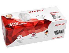 METO Arrow - Boîte de 6 rouleaux de 1000 étiquettes permanentes - 22 x 12 mm - blanc - pour étiqueteuse 1 ligne