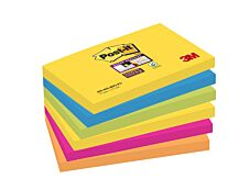 Post-it - 6 Blocs notes Super Sticky Rio - couleurs vives assorties - 76 x 127 mm