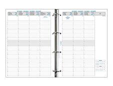 Exacompta Exatime 29 - Recharge pour organiseur - 1 semaine sur 2 pages 1/4H - 14,2 x 21 cm