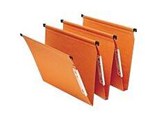 Fast Standard - 25 Dossiers suspendus pour armoires - orange - fond V