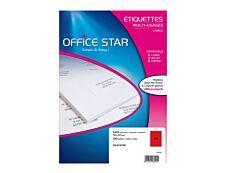Office Star - 2400 Étiquettes multi-usages rouge - 70 x 37 mm - réf OS43474R