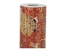 Clairefontaine Premium - Papier cadeau - 70 cm x 50 m - 80 g/m² - motif boules de Noël rouge et or