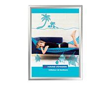 Promocome Clipframe - Cadre d'affichage clippant - coins carrés - A4