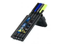 STAEDTLER triplus multi set 34 - Pack de stylo à bille, feutre fin, surligneur et crayon rétractable