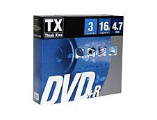 TX - 3 DVD+R avec boîtiers - 4.7 Go