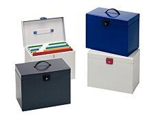 Esselte - Classeur ménager en métal (valisette) avec 5 dossiers suspendus- disponible dans différentes couleurs