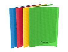 Cambridge - Cahier polypro 24 x 32 cm - 96 pages - grands carreaux (Seyes) - disponible dans différentes couleurs