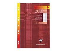 Clairefontaine - 200 copies doubles A4 - petits carreaux (5x5 mm) avec marge - perforées