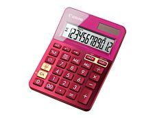 calculatrice de bureau Canon LS- 123K - 12 chiffres - alimentation batterie et solaire - rose