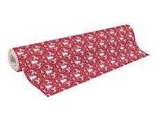 Clairefontaine Alliance - Papier cadeau - 70 cm x 50 m - 60 g/m² - motif sapins fond rouge