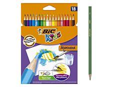 BIC KiDS AQUACOULEUR - 18 Crayons de couleur