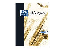 Oxford - Cahier de musique 24 x 32 cm - 48 pages - pages à portée et grands carreaux