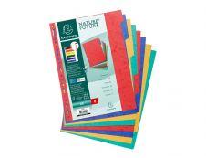 Exacompta Nature Future - Intercalaire 8 positions - A4 - carte lustrée colorée