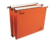 Esselte VisioPlus - 10 Dossiers suspendus pour tiroirs - orange - fond 15 et 30 mm