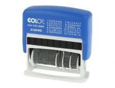 Colop - Mini tampon dateur S120WD - multi formules