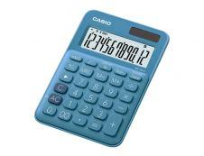Calculatrice de bureau Casio MS-20UC - 12 chiffres - alimentation batterie et solaire - bleu