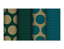 Clairefontaine Excellia - Papier cadeau - 70 cm x 50 m - 80 g/m² - pois bleu et vert