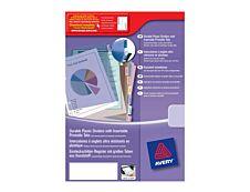 Avery - Intercalaire personnalisable 12 positions - A4 Maxi - polypropylène résistant