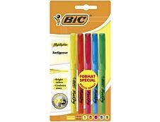 BIC Highlighter - Pack de 5 - surligneurs - couleurs assorties