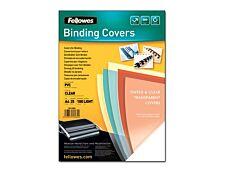 Fellowes - 25 couvertures à reliure A4 (21 x 29,7 cm) - plastique 180 microns - transparent