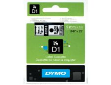 Dymo D1 - Ruban d'étiquettes auto-adhésives - 1 rouleau (9 mm x 7 m) - fond transparent écriture noire
