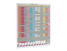 Nobo - Planning annuel à fiches T - 13 colonnes - 80 x 96 cm