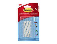 Command - Pack de 20 Clips décoratifs avec 24 languettes transparentes