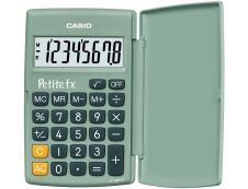 Calculatrice de poche Casio Petit-FX LC-401LV - 8 chiffres - alimentation batterie - vert