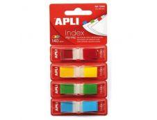 Apli - Marque-pages (Index) - 12 x 45 mm - jaune, bleu, vert, rouge