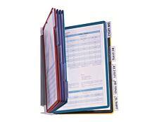 Durable Vario - Support mural de consultation avec 10 pochettes A4 - couleurs assorties