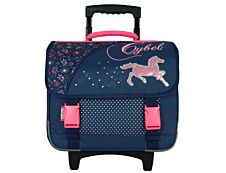 Cybel - Cartable à roulettes 38 cm - 2 compartiments - Bagtrotter