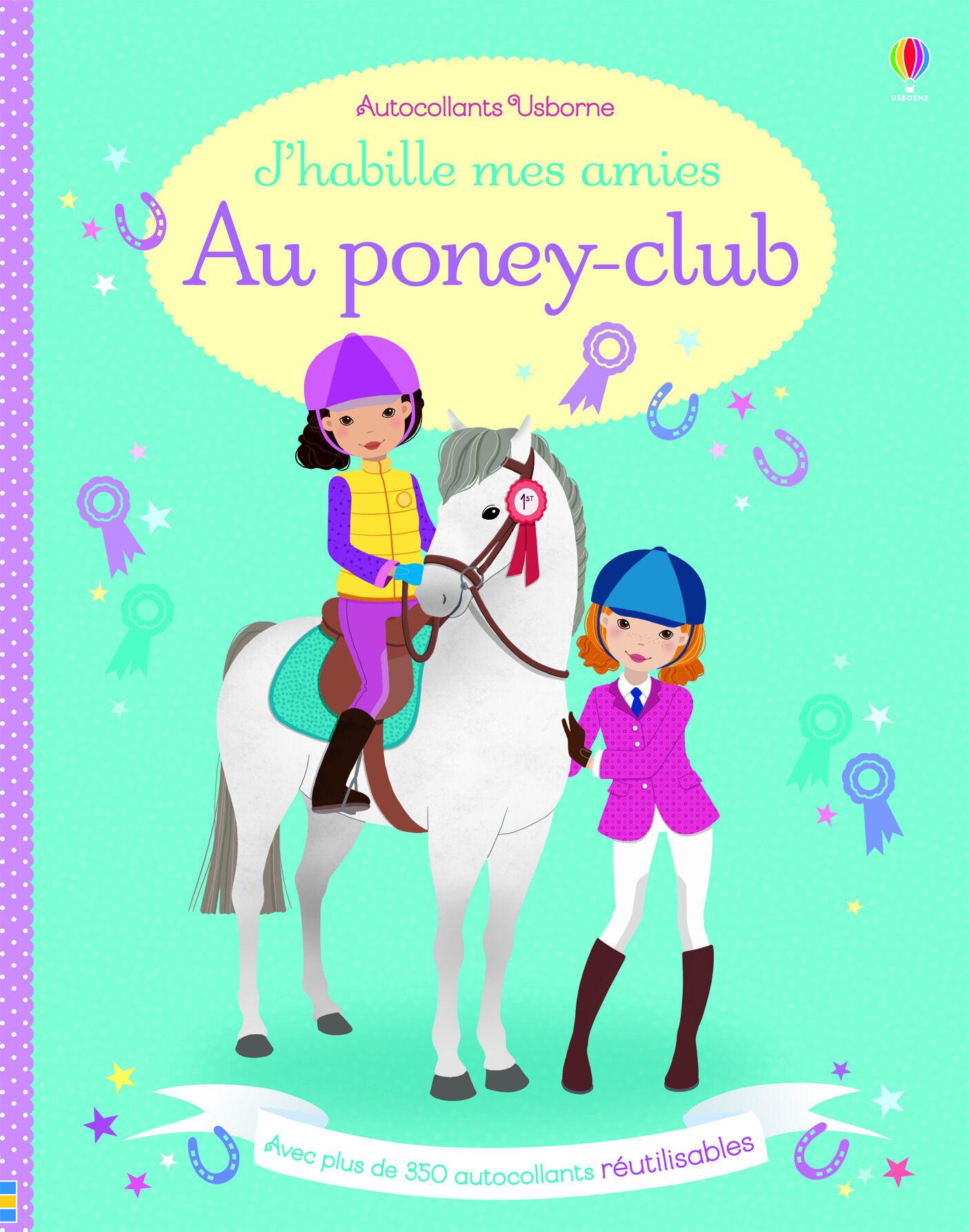 J'habille mes amies au poney-club - autocollants