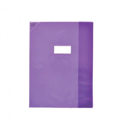 Oxford School Life - Protège cahier - 17 x 22 cm - violet translucide