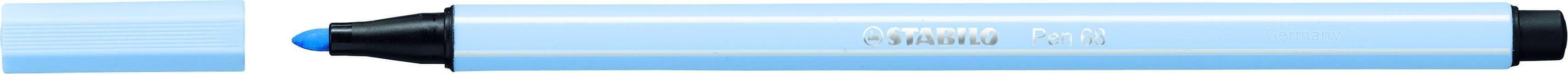 STABILO Pen 68 - feutre  pointe moyenne - Cobalt clair
