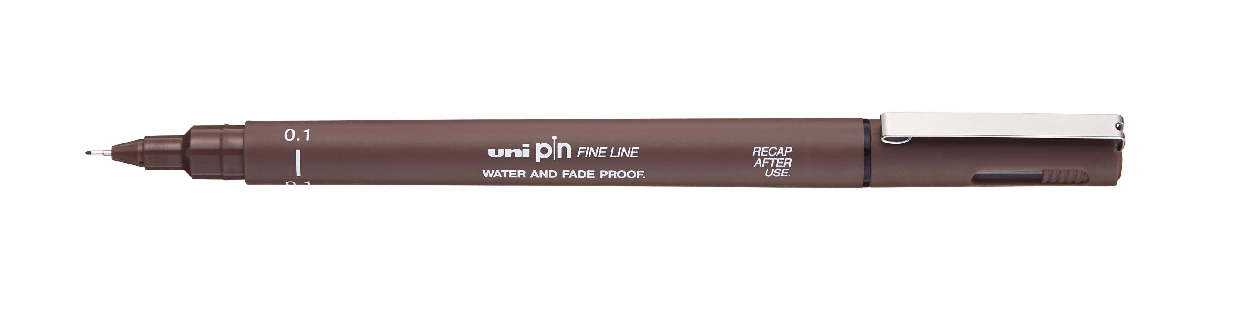 UNI PIN - Feutre fin - pointe calibrée - 0,01 mm - sepia